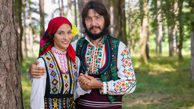 Typical Bulgarian clothing for men and women