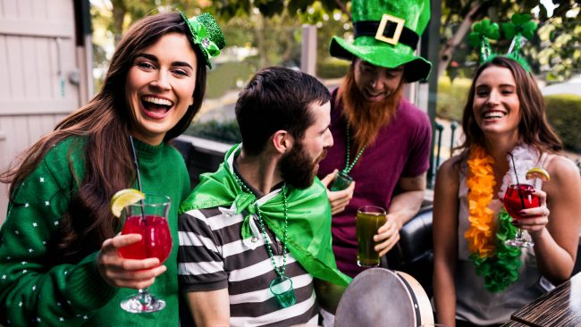 Typical costumes of St. Patrick's Day in Ireland