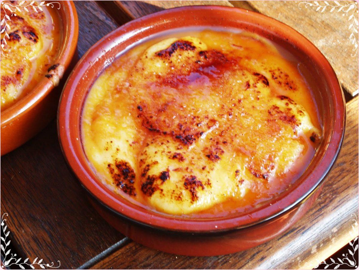 Typical Catalan food calatana cream