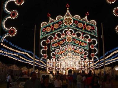 Illuminations of the fair in Huelva