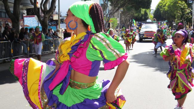 The colorful of the typical costumes of Nicaragua