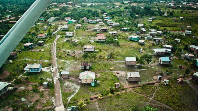 Vue aérienne de Puerto Cabezas, sur la côte nord des Caraïbes, au Nicaragua
