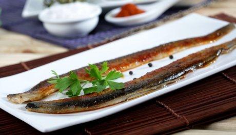 Typical Catalan food Ebro Delta eels