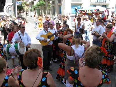 Flamenco at Malaga parties