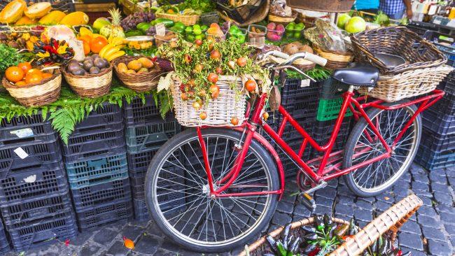 Market of the Campo de 'Fiori Square, Rome