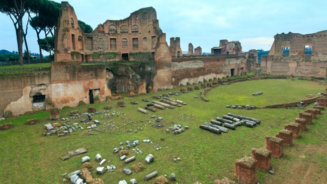 Remains of the Hippodrome, on the Palatine Hill, Rome