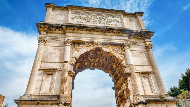 Arco de Tito, in the Roman Forum