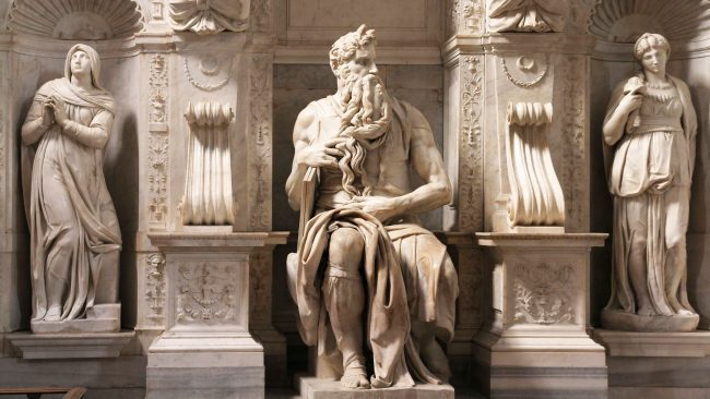The Moses of Michelangelo, in the Basilica of St. Peter in Vincoli, Rome