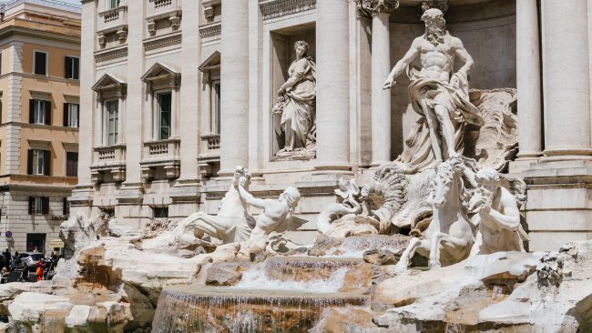 The amazing sculptures of the Trevi Fountain, Rome