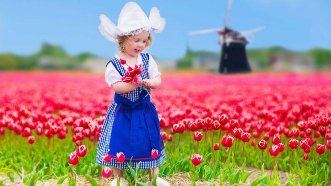 Typical Dutch costume in children's version