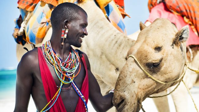 Typical costumes of Kenya: the Masai tribe