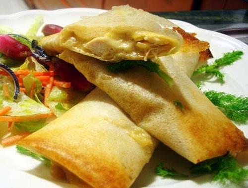 Typical Tunisian food Brik