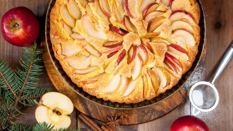 Typical United States food apple pie
