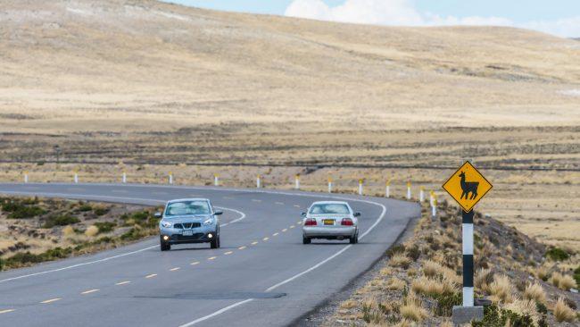 Circulating the roads of Peru