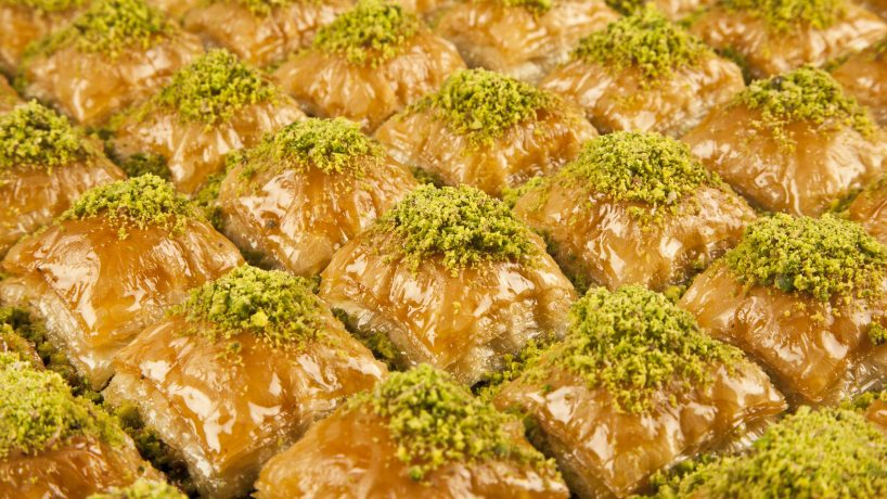 Typical food of Egypt Baklava