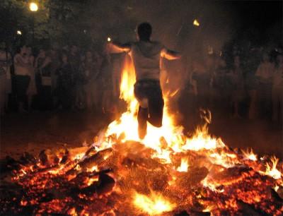 San Juan's bonfires