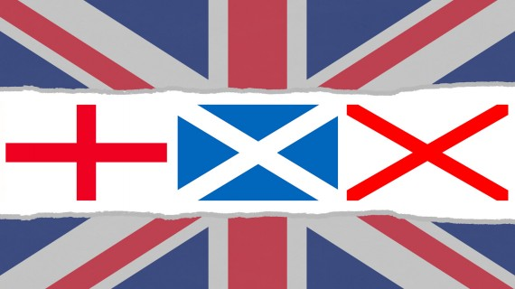 Crosses that make up the Flag of the United Kingdom