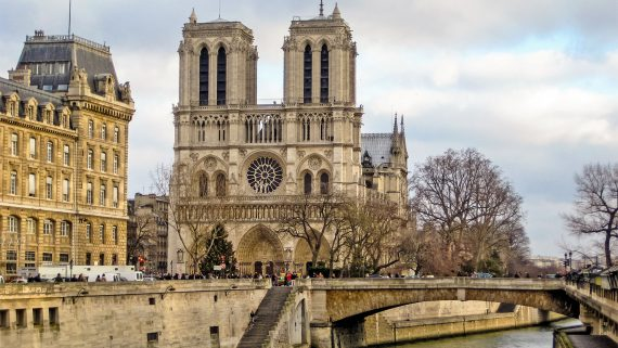 Views of the Notre Dame Cathedral in Paris