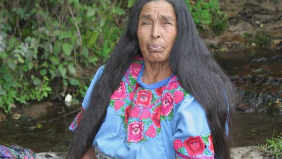 Woman with typical costume in Momostenango