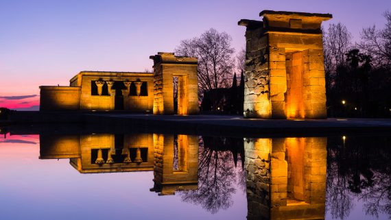 Night view of the Temple of Debod