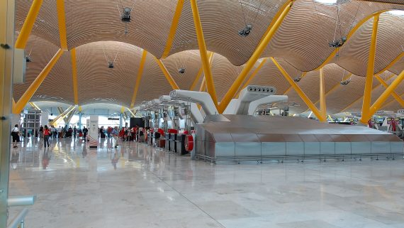 Terminal 4 of the Madrid-Barajas Airport