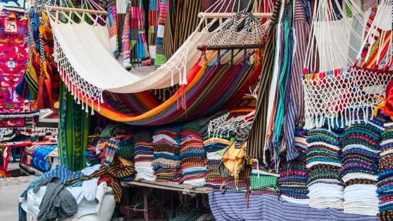 Handicraft market in Otavalo, Imbabura