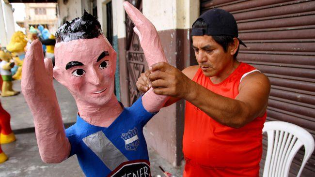 Preparation of stick figures in Ecuador