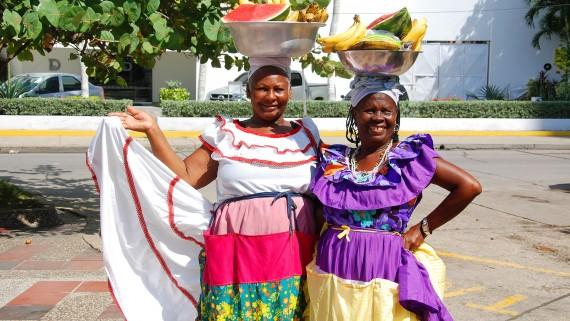 Les femmes de Palenqueras à Carthagène, Colombie