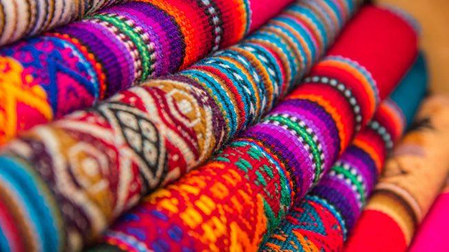 Tissus typiques des Andes