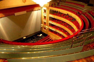 Stage of the Royal Theater of Madrid
