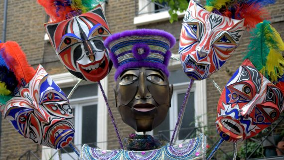 Masks at the Notting Hill Carnival