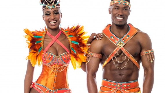 Man and woman samba suit