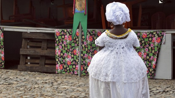 Bahiana in typical costume of Salvador de Bahia