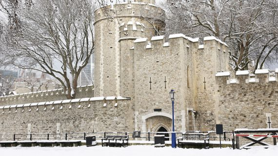 The Tower of London a snowy day