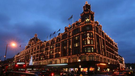 Harrods during winter sales (London)