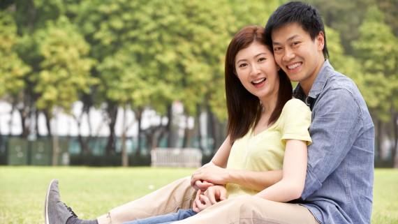 Jeune couple asiatique