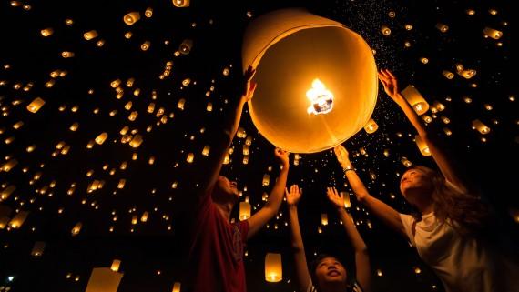 Ballons en papier de soie en Chine et à Taiwan