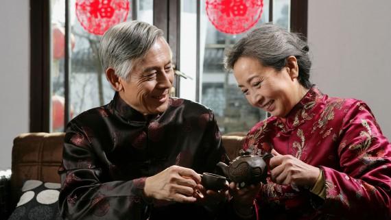Boire du thé en Chine