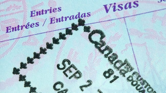 Visa to travel to Canada