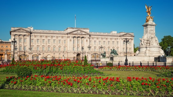 Buckingham Palace in summer season