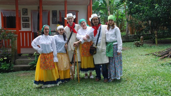 Typical costume of the Colombian Andes