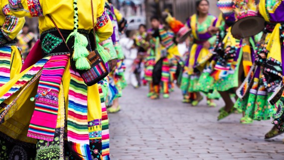 Typical costume of the festivities of Cuzco, Peru