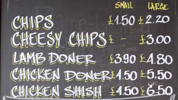 London restaurant price list