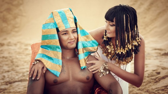 Pharaoh next to Great Royal Wife