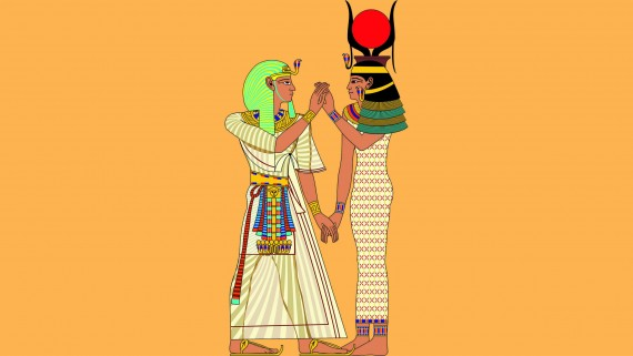 Dress of the Pharaoh and the Great Royal Wife