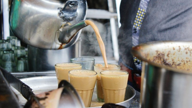 First steps in typical Indian food Chai