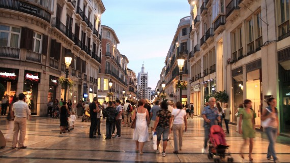 Calle Larios, the main artery of Malaga