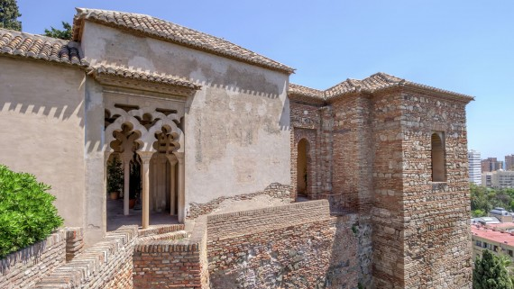 Interior of the Alcazaba, Malaga, Spain