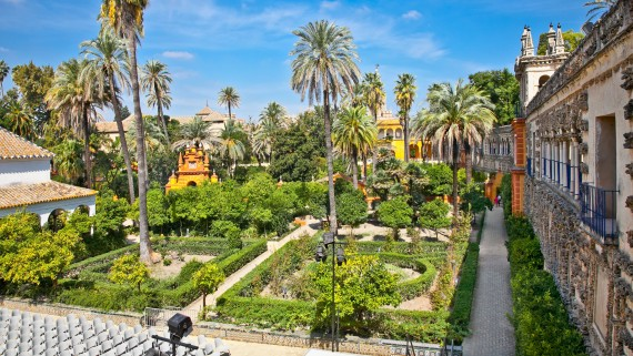 Gardens of the Royal Alcazares of Seville