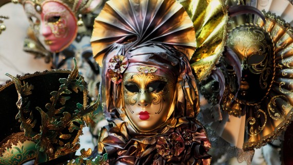 Masks typical of the Carnival of Venice